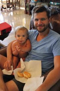 Lukey not sharing Daddy