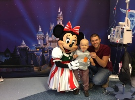 Amos found Minnie Mouse at CHOC!