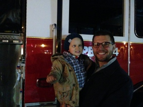 A Firetruck at the boat parade