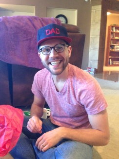 """Will in his """"Dad"""" hat that Amos picked out for him all by himself!"""