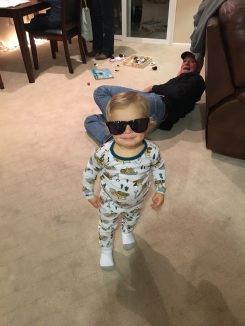 Luke being cute...and appreciating the fact that he's getting to handle sunnies since he typically snaps them in half immediately.