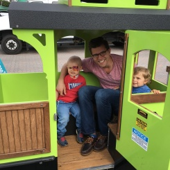 Riding the (free) train at the farmers market- a new favorite!