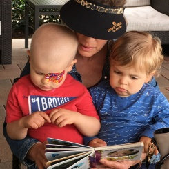 Both of these boys are readers- and Gigi has had a lot of practice over the years!