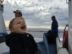 Luke enjoys most things to this extent. Boat rides included!
