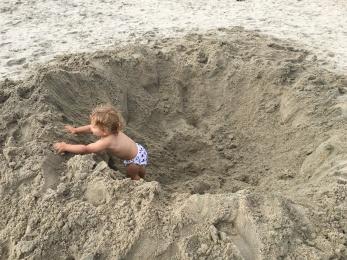 Luke in a hole