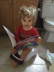 Working on using the potty (both boys!)