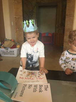 The Birthday King, of course :) Opening a lovely package of gifts and cards from our bible study group in Cambridge. Thank you all!