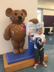 Had to visit Choco bear on his birthday...