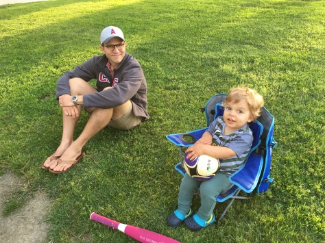 Daddy and Luke at the park