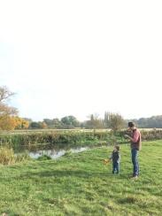 Enjoying the walk along the river