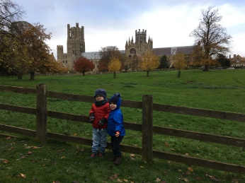 The boys at Ely cathedral for their Christmas fair