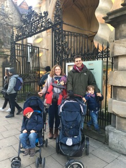 A rare family shot on a recent visit to Oxford