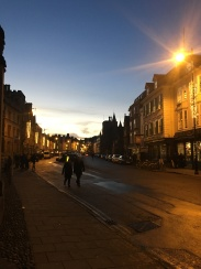 An evening street view from Oxford