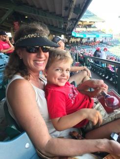 Gigi and Luke at the Angels game