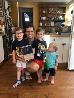 Me and the boys. And the book I published (long story).
