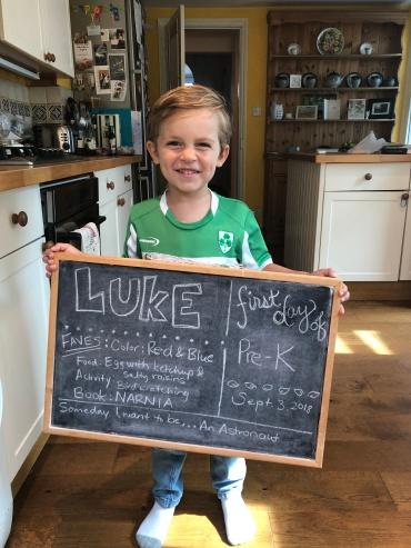 Luke's first day at (nursery) school