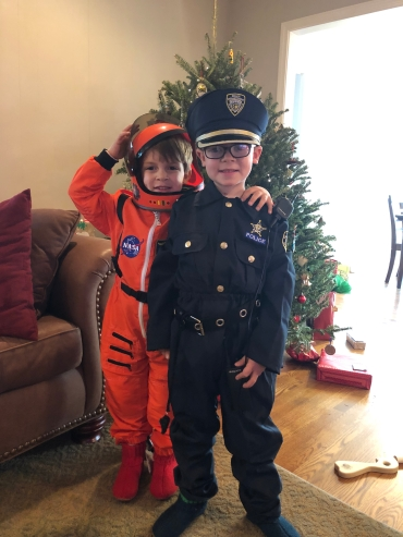 Spaceman and Policeman brothers!